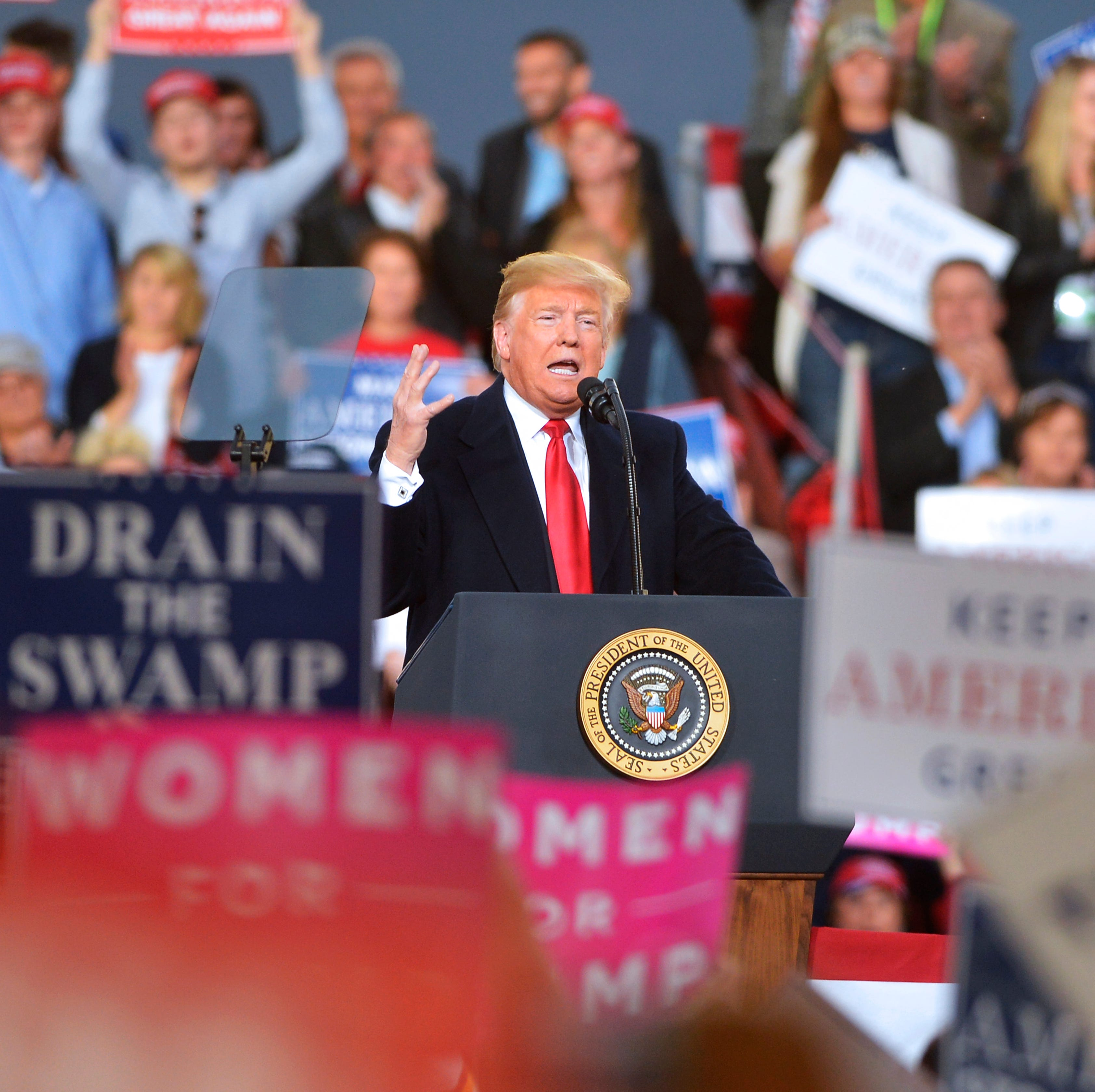 Women, Kavanaugh and Gianforte body slam: Here's what to know about Trump's Missoula rally