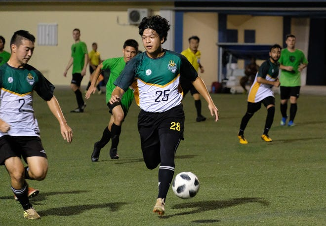 The University of Guam Men's Soccer Team led their opening match of the season 4-1 at half-time against the Islanders FC