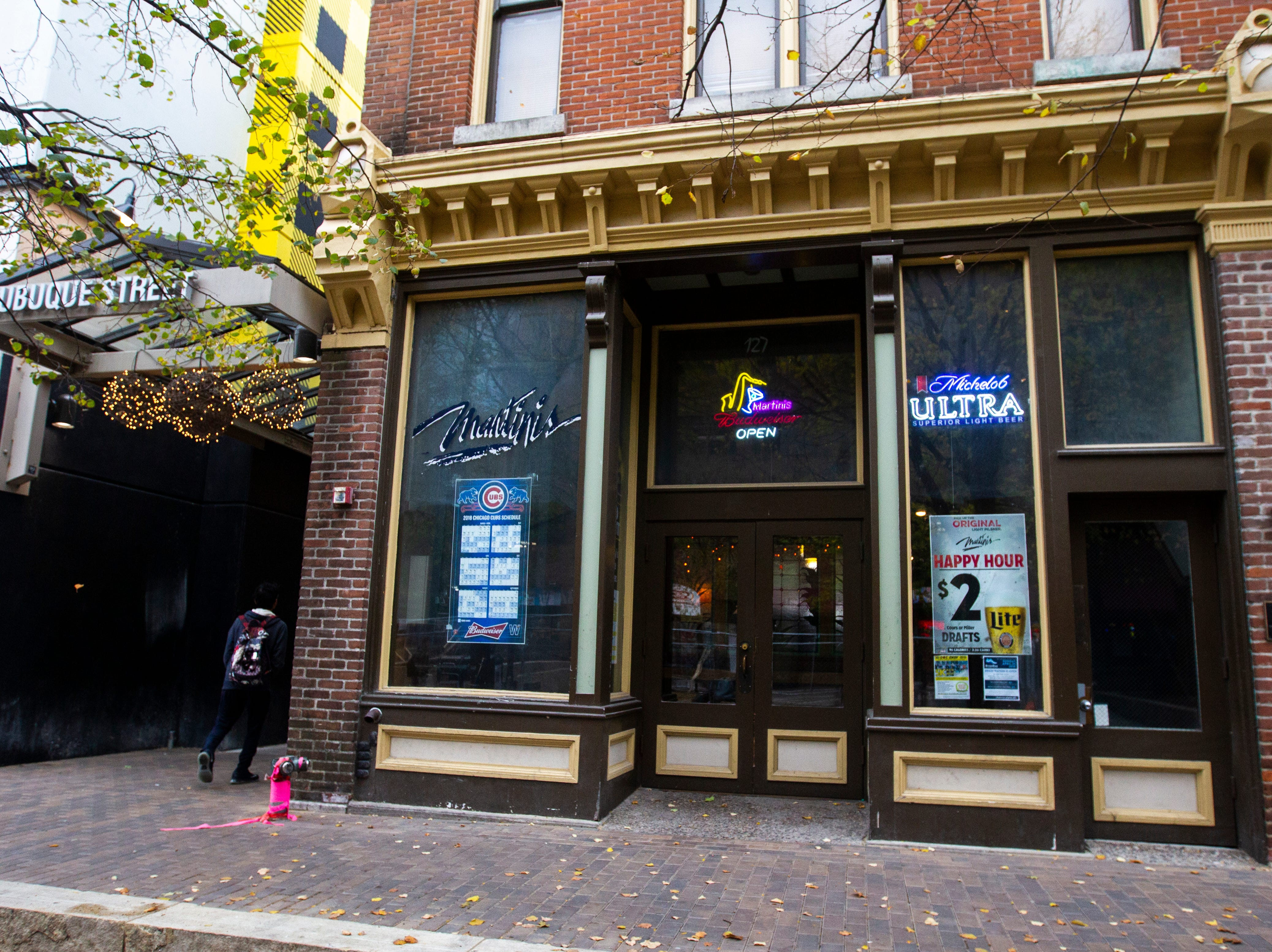 Martini's is seen on Friday, Oct. 19, 2018, at 127 E College Street in downtown Iowa City.