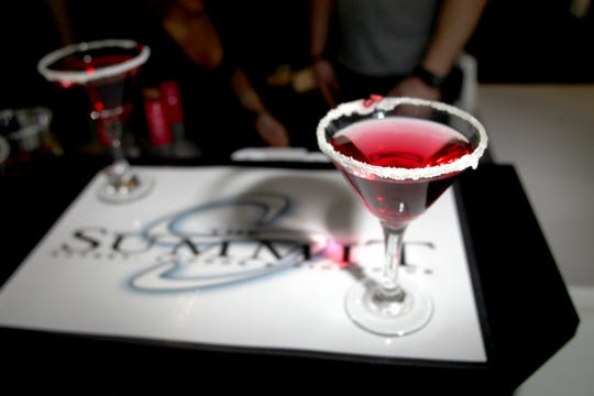 """The """"Purple Pom Martini"""" from Summit during the second annual Top Chef Downtown at the Hotel Vetro on Wednesday, March 28, 2012."""