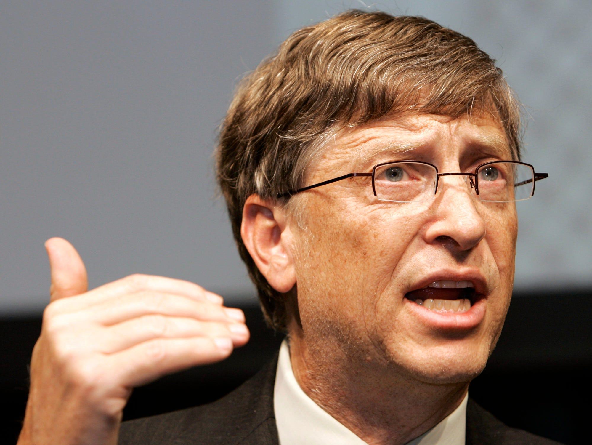 Microsoft Chairman Bill Gates speaks during a press conference in Tokyo, Wednesday, May 7, 2008. Gates said Wednesday the company isn't pursuing other deals following the withdrawal of its US$47.5 billion (euro30.7 billion) takeover bid for Yahoo.