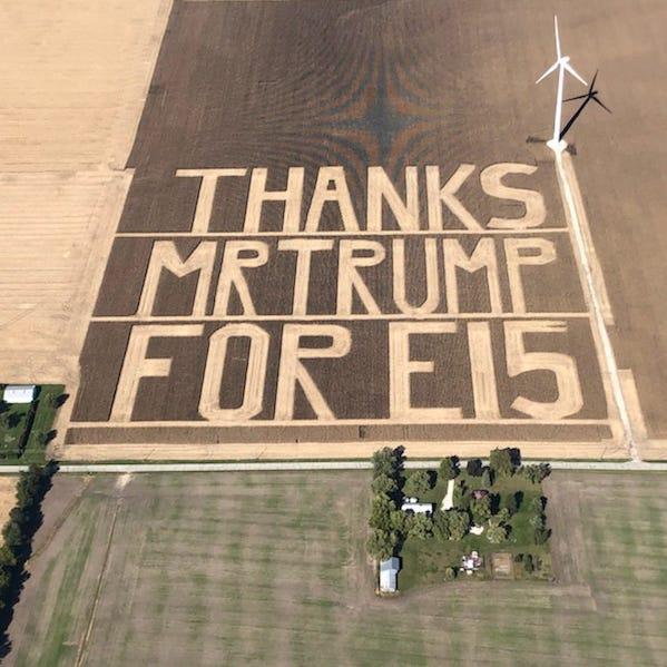 Benton Co. farmers harvest a 60-acre thanks to Donald Trump after E15 decision