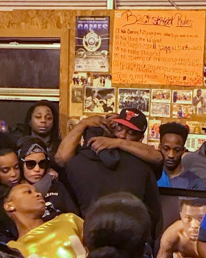 Friends and family gathered at Backstreet Boxing Club in Carencro to remember Brandon Broussard, who was shot and killed  in Lafayette.