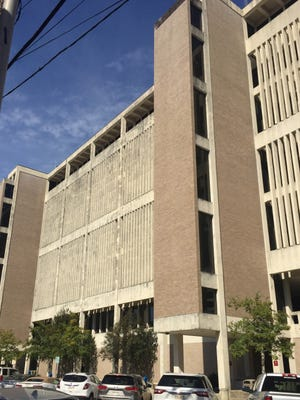 The Lafayette Parish courthouse was built in 1967.
