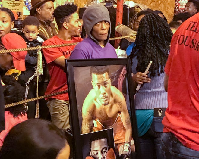 Friends and family gathered Wednesday at Backstreet Boxing Club in Carencro to remember Brandon Broussard, who was shot at killed Saturday in Lafayette.