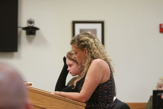 Justin Henderson's mom, Julie speaks to the court on Oct. 19, 2018.