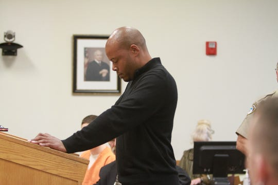 Albert Boswell, the driver of the Cadillac and boyfriend of Candace Dunn spoke during the sentencing of Matthew Jordan Carrier on Oct. 19, 2018.