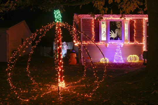 Frosty's Festival of Lights Halloween display Oct. 17 in Manitowoc.