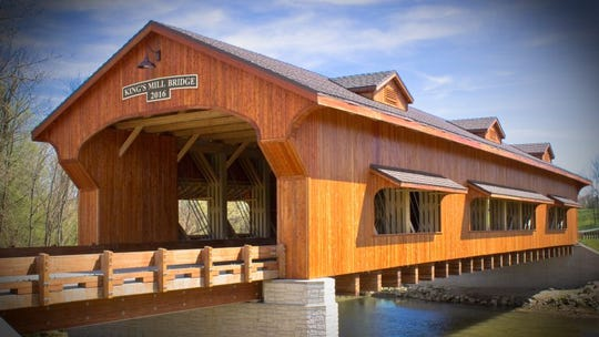 The 2016 Kings Mill Bridge provides the essence of historic covered bridges that have attracted millions nationwide