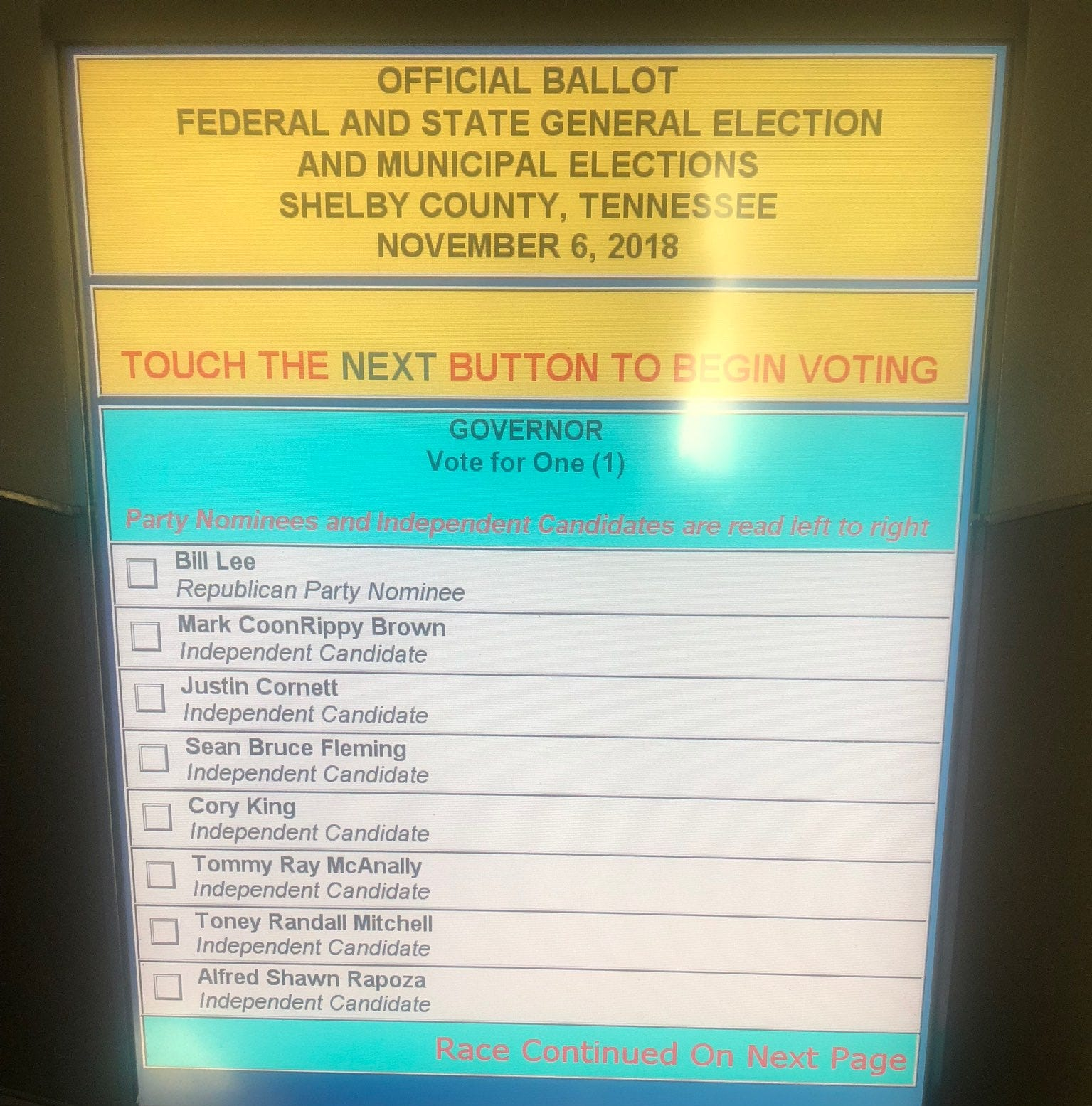 Don't press the enlarge print button on ballot, Shelby County election officials say