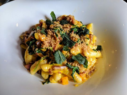 House-made ricotta cavatelli (in butternut squash sauce with wild boar soppressata and crisped sage) will be on the menu at Artisan 179 in Pewaukee. Other house-made pastas will be offered as specials.