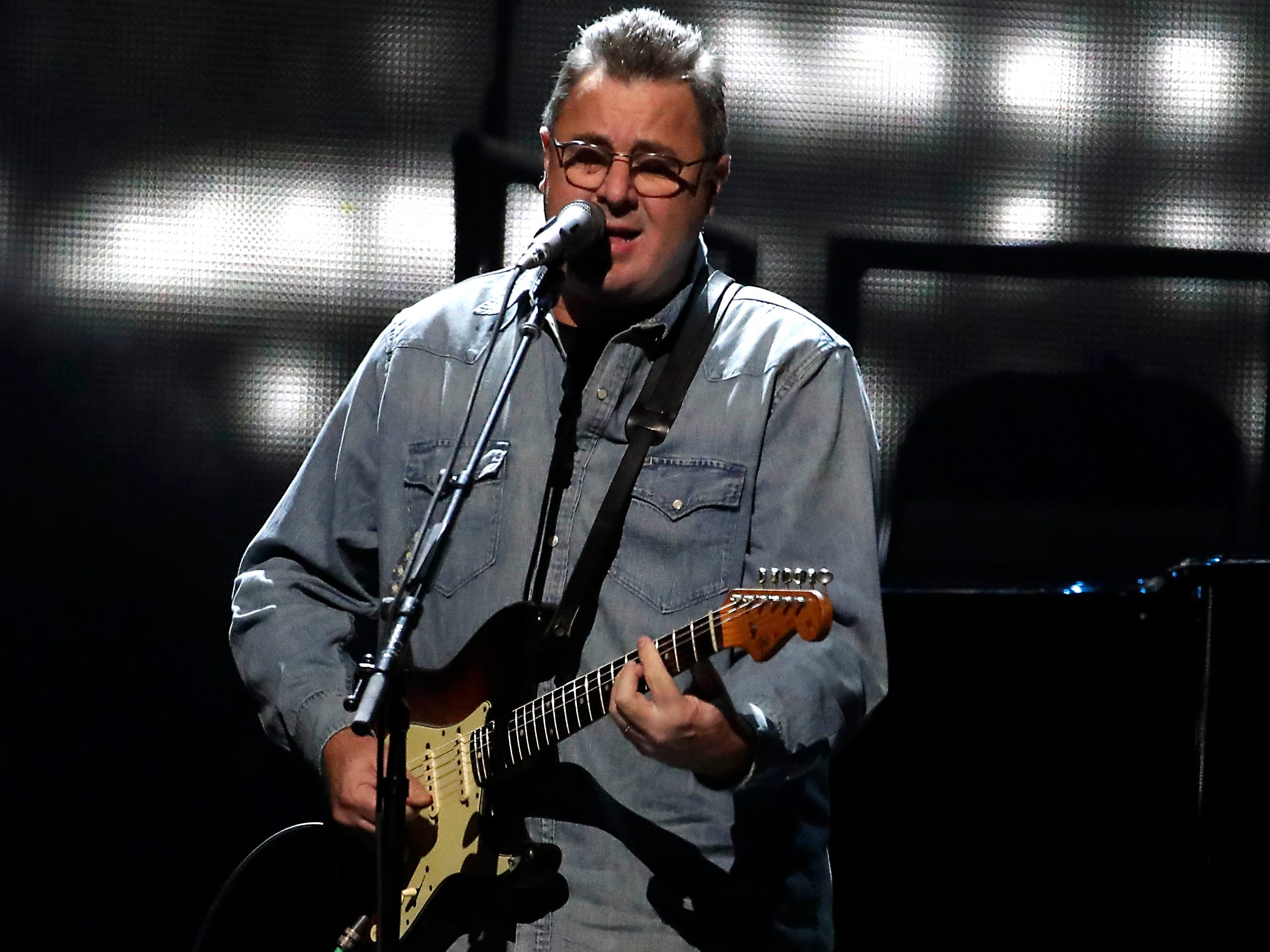 Vince Gill sings during An Evening with the Eagles at Fiserv Forum in Milwaukee on Thursday. RIck Wood,