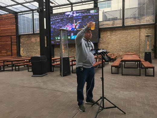 Milwaukee Bucks mark grand opening of beer garden outside