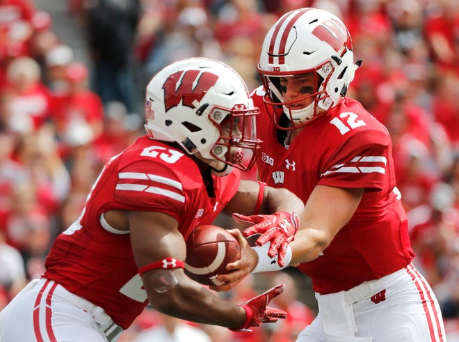 Against Northwestern last season, UW running back Jonathan Taylor scored on runs of 7 and 11 yards but finished with modest numbers – 80 yards on 19 carries.