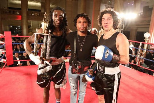 Ivry Hall after his win over Biaggio Ali Walsh, the grandson of Muhammed Ali.