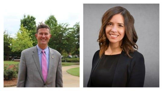 Secretary of state candidates John Merrill and Heather Milam