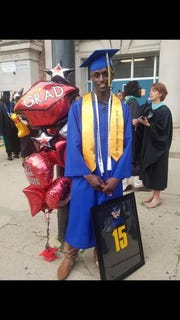Ivry Hall graduated as the valedictorian of his class at Tilden Career Community Academy in Chicago.