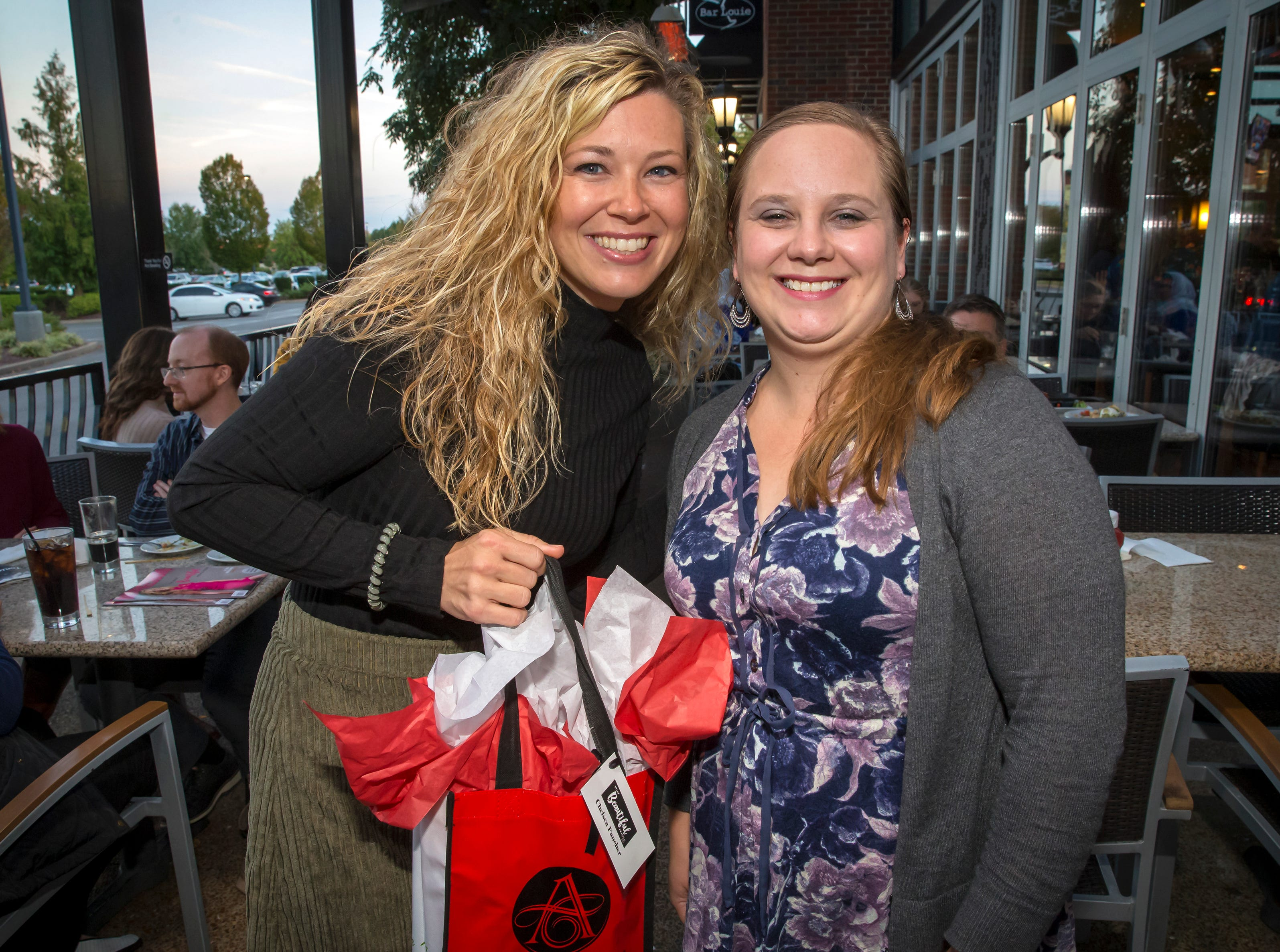 Chelsea Fancher and Sarah Clark at the Murfreesboro Magazine Most Beautiful People event held at Bar Louie.