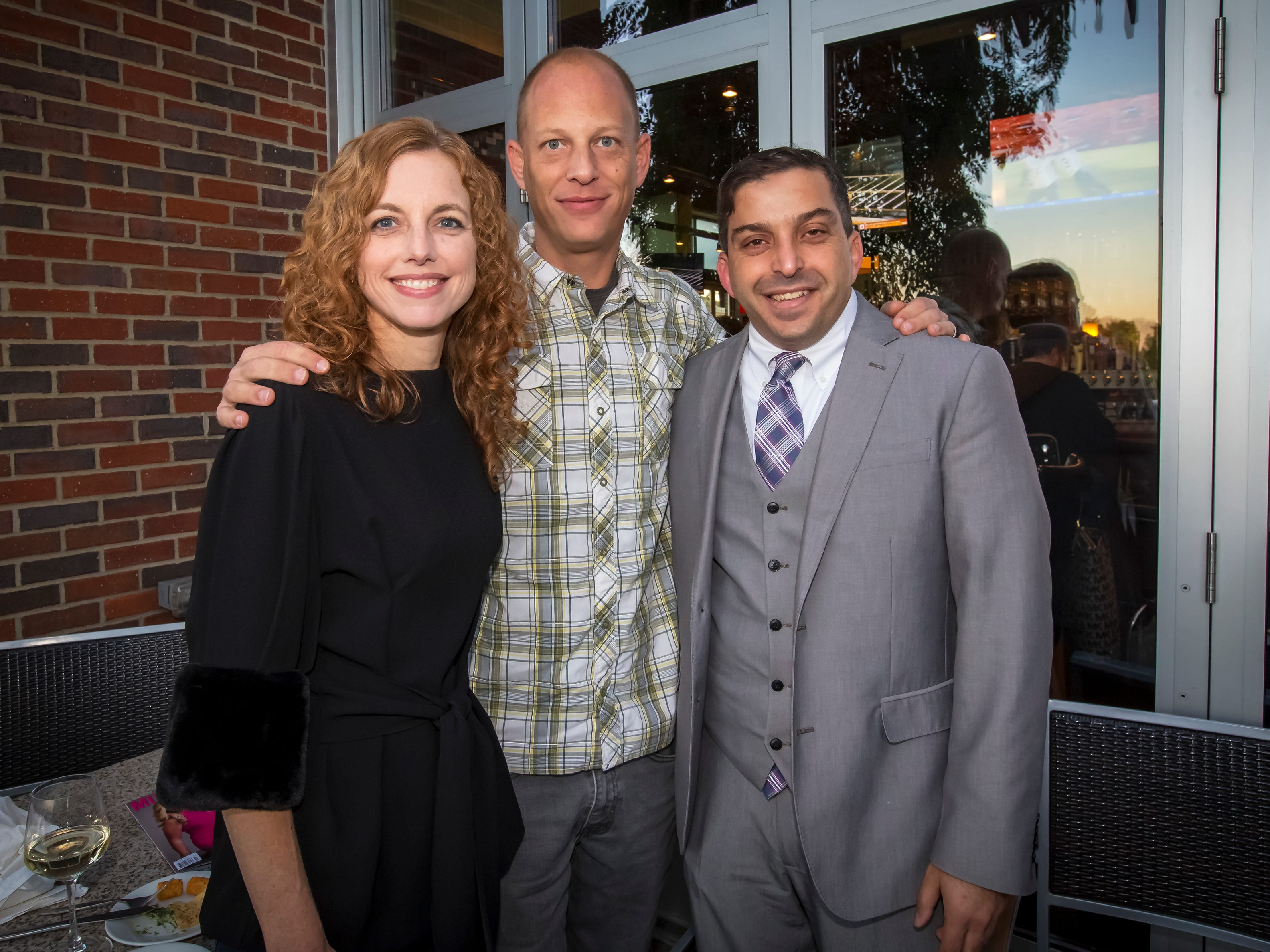 Laura and Andy Harper along with Abdou Kattih at the Murfreesboro Magazine Most Beautiful People event held at Bar Louie.