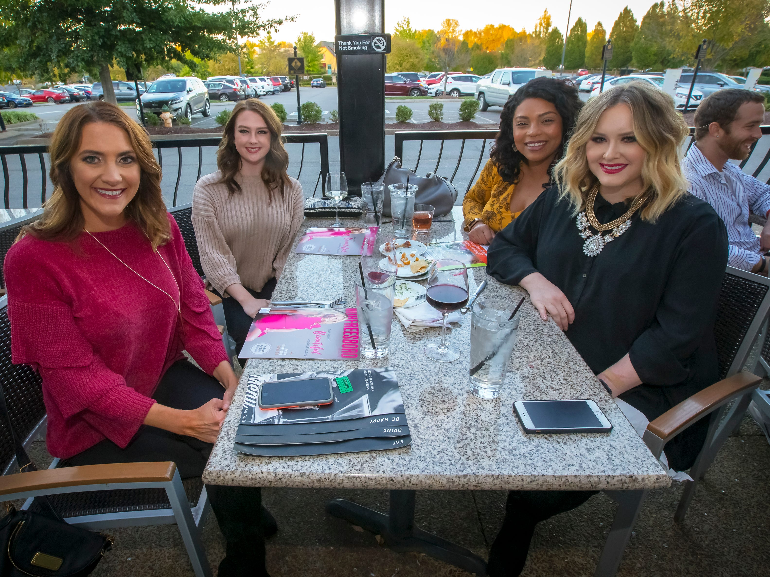 Jessica Shields, Brena Pulley, Amy McElroy and Krystal Dickerson at the Murfreesboro Magazine Most Beautiful People event held at Bar Louie.