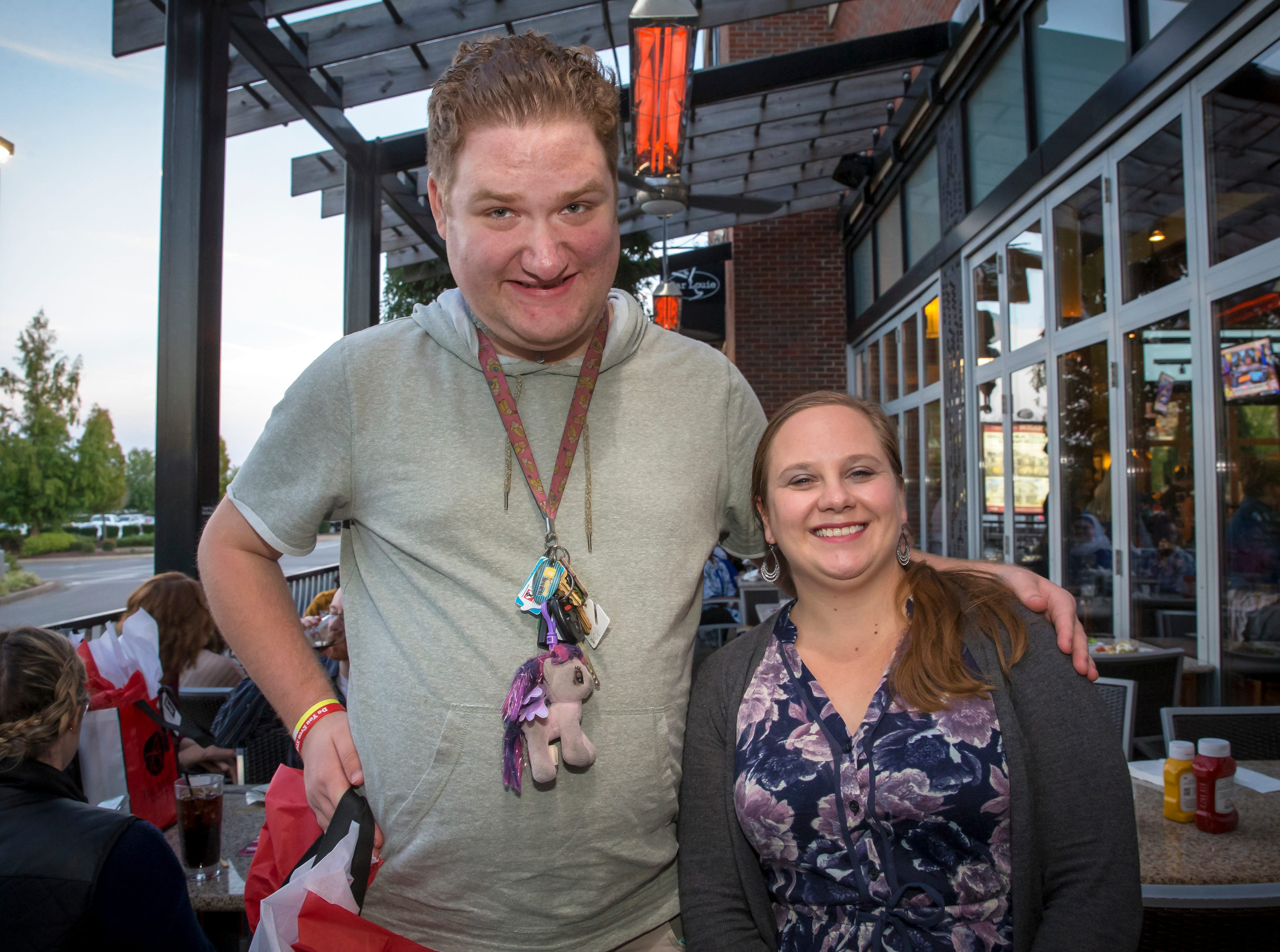 Zach Sutton and Sarah Clark at the Murfreesboro Magazine Most Beautiful People event held at Bar Louie.