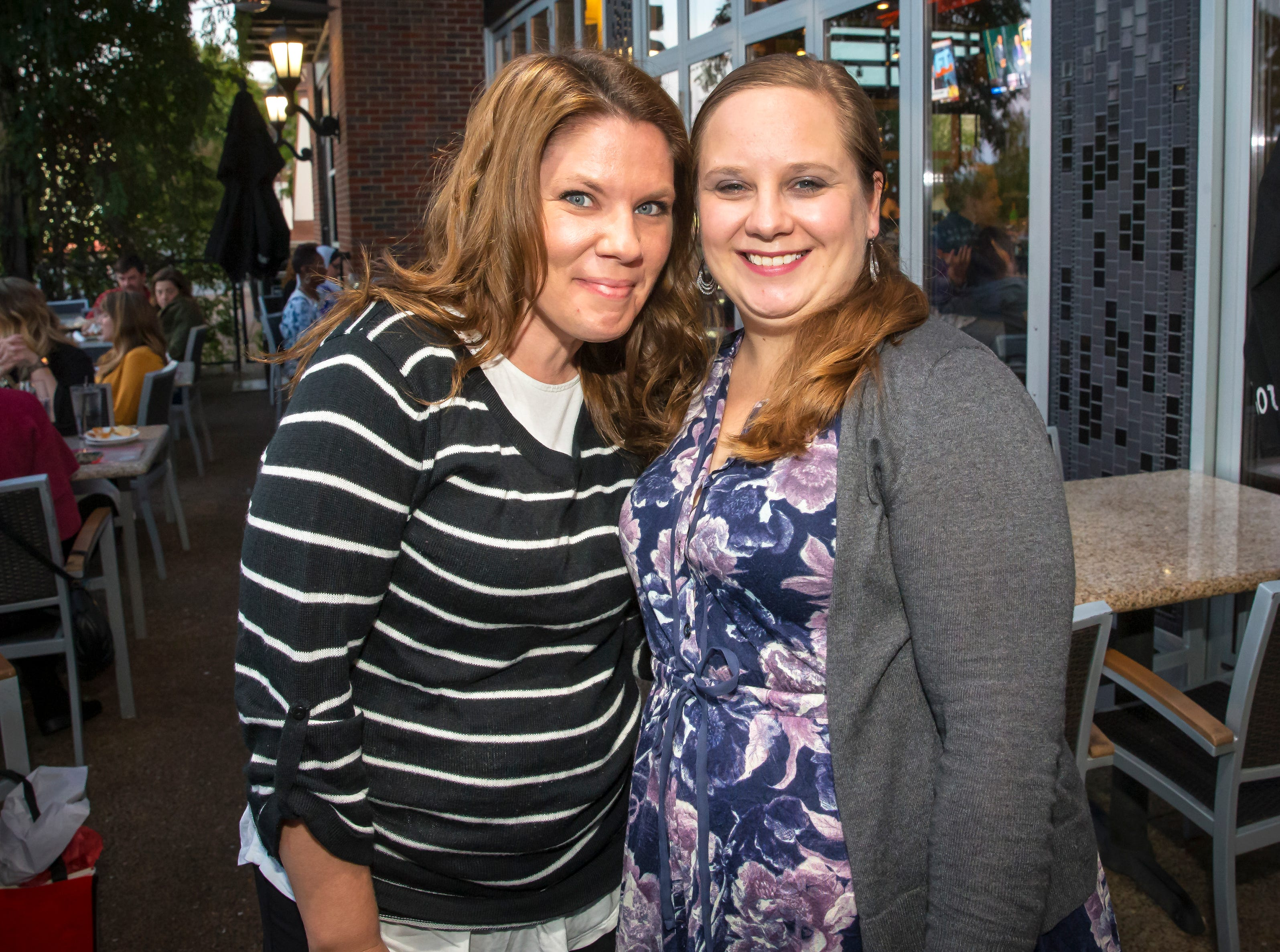 Marla Allen and Sarah Clark at the Murfreesboro Magazine Most Beautiful People event held at Bar Louie.