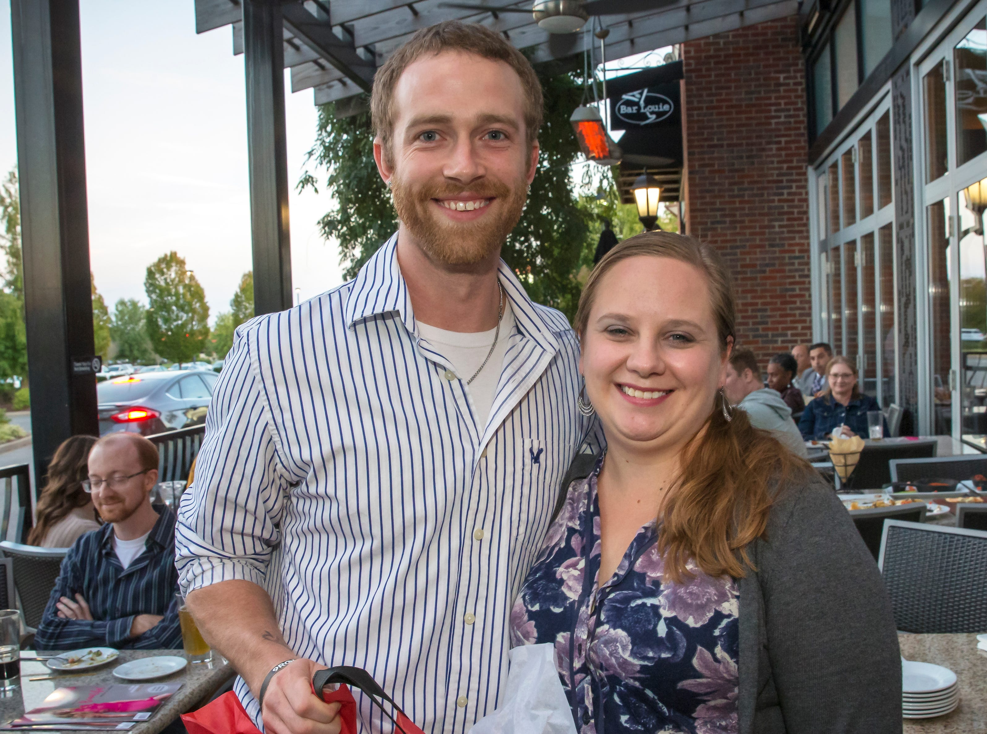 Chase Hamlin and Sarah Clark at the Murfreesboro Magazine Most Beautiful People event held at Bar Louie.