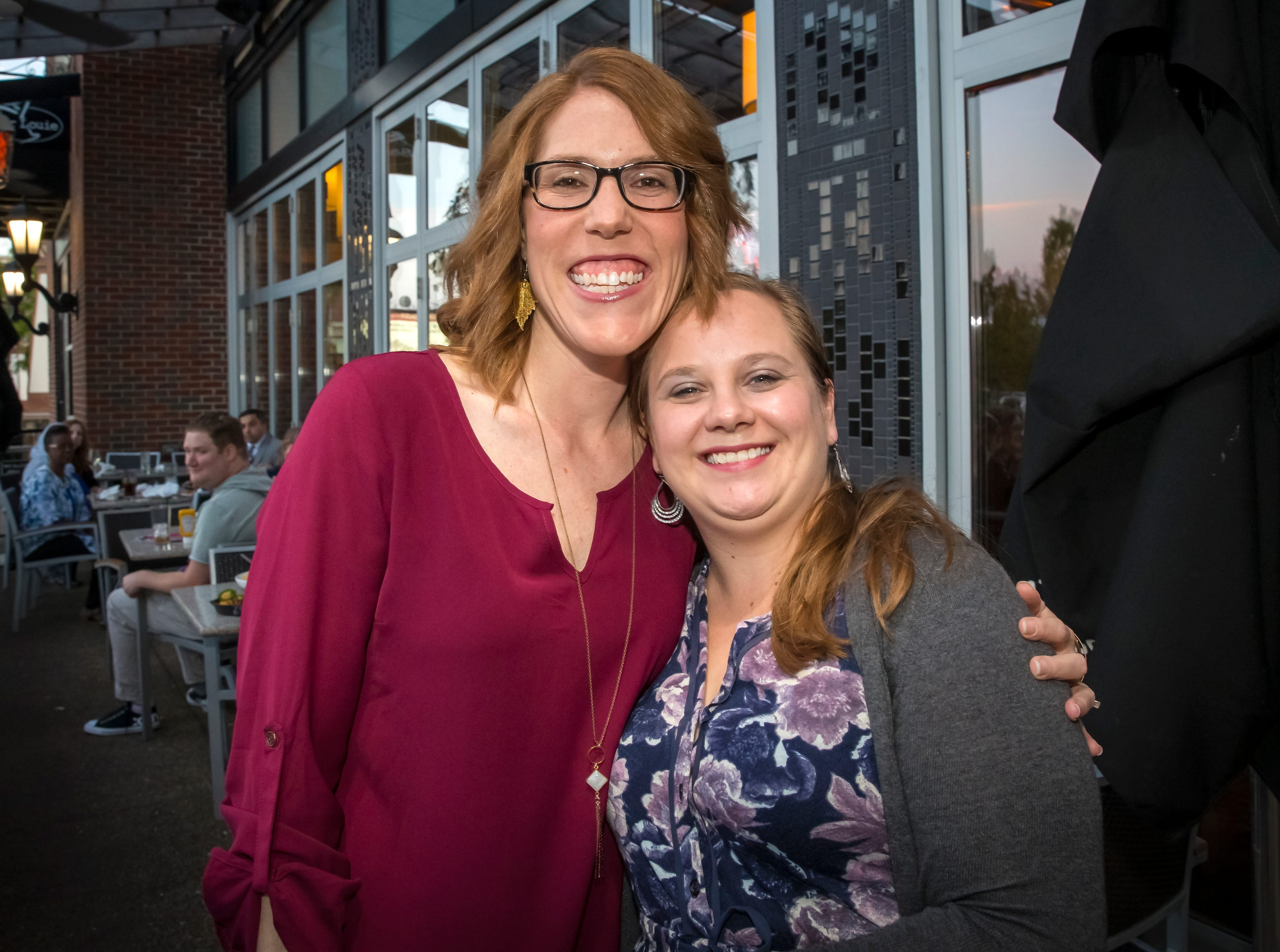 Kristi Crass and Sarah Clark at the Murfreesboro Magazine Most Beautiful People event held at Bar Louie.photo by Jim Davis/for the DNJ
