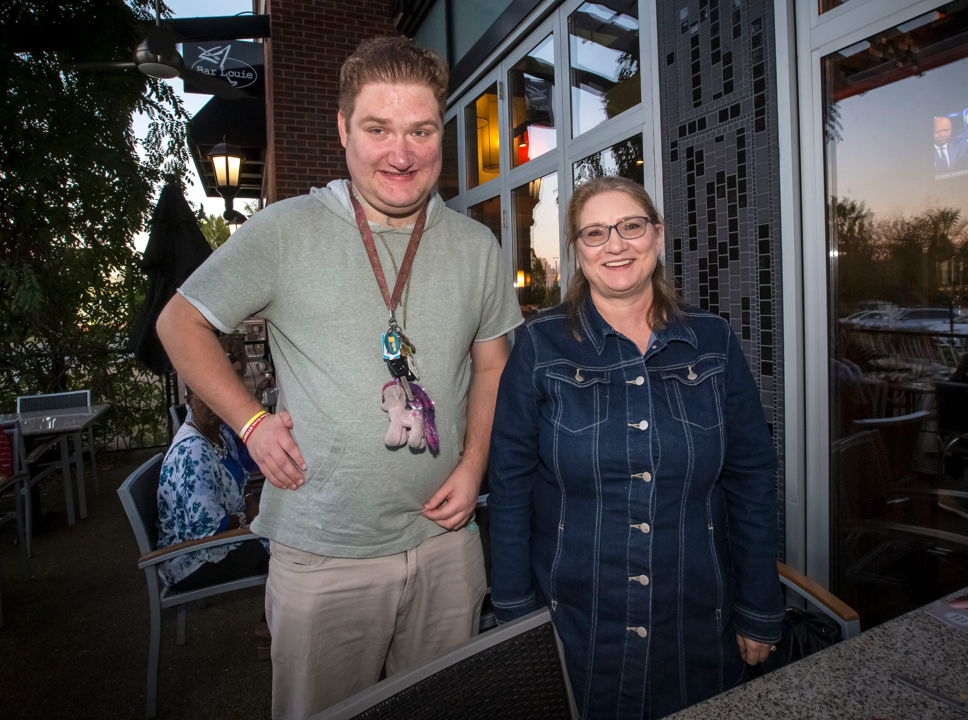 Sandra Sutton and Zach Sutton at the Murfreesboro Magazine Most Beautiful People event held at Bar Louie.