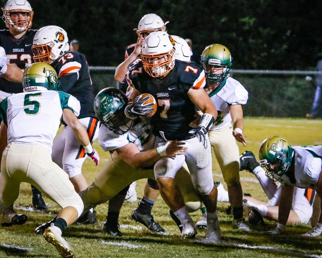MTCS' Drew Berry navigates his way through the Friendship Christian defense during a recent game. Berry exploded for 353 yards and six touchdowns in a win over Jackson Christian Friday in the first round of the DII-A playoffs.