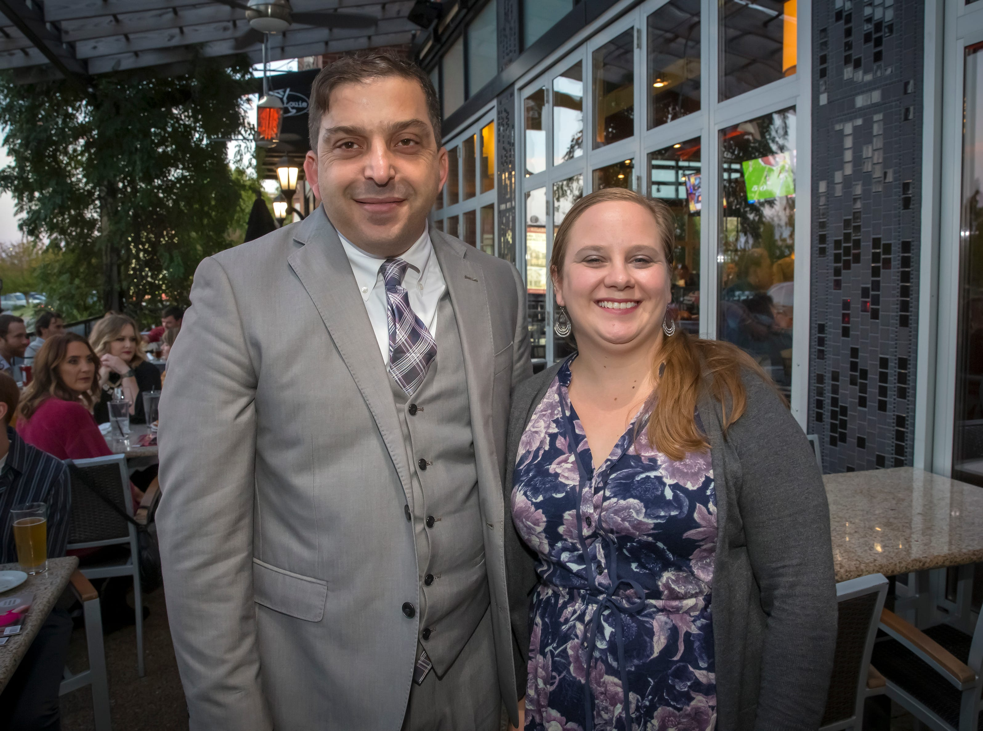 Abdou Kattih and Sarah Clark at the Murfreesboro Magazine Most Beautiful People event held at Bar Louie.photo by Jim Davis/for the DNJ