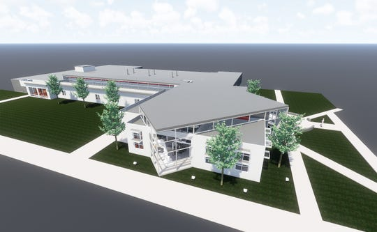 This rendering by Holmes Architecture shows the design for the Warf Math and Science Building once the renovation is completed at Volunteer State Community College.
