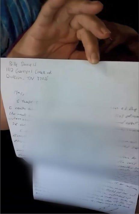 Daniels Letter Pic