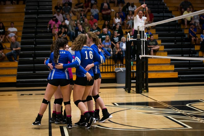 Barron Collier swept Palmetto Ridge in the Class 7A-District 12 championship volleyball match on Thursday, October 18, 2018, at Golden Gate High School in Naples.