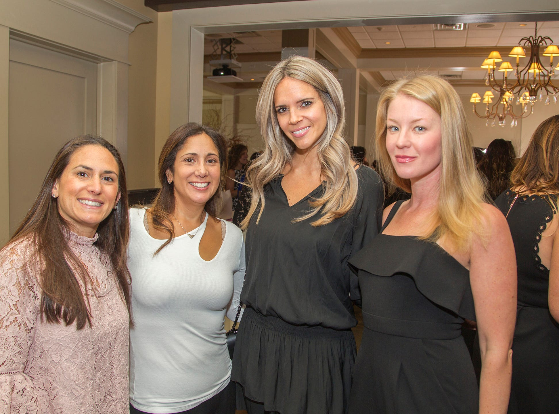 Erica Fishman, Jaime Weber, Rebecca Amoroso, Eilleen barrett. Spring Lake Toys Foundation held its 3rd annual fundraising gala luncheon at Indian Trail Club in Franklin Lakes. The luncheon fundraiser raises funds for children with illnesses. 10/18/2018
