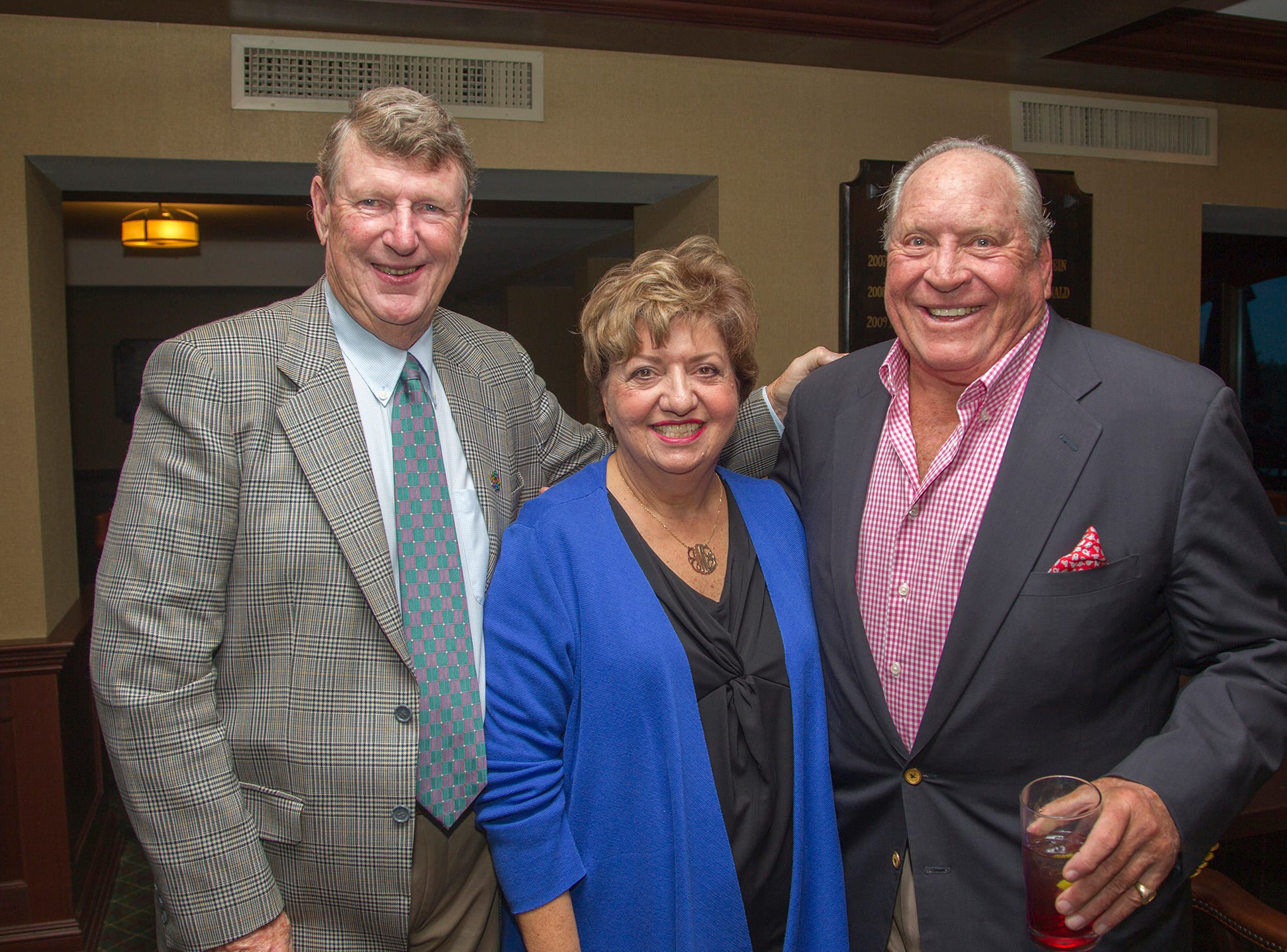 Bill and Joan Murray, Dr. Terry Hensel. Seventh annual AIR Express Golf Outing honoring Dr. Dante Implicito, M.D. for his service to Hackensack University Medical Center. 10/16/2018
