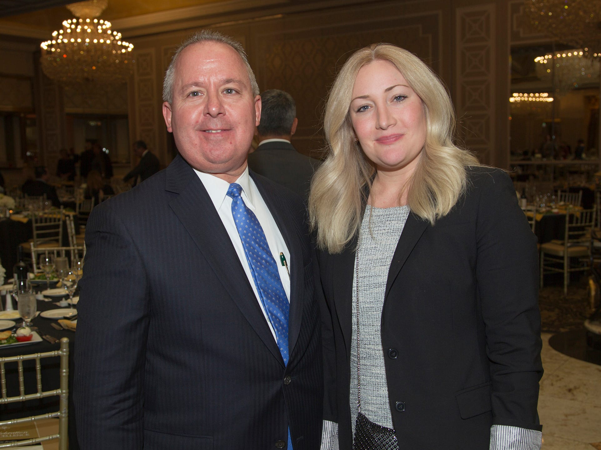 Paul Borovskis, Christine Cookson. Christian Health Care Center held its ' A Celebration of Excellence' gala at the Venetian in Garfield.  10/17/2018
