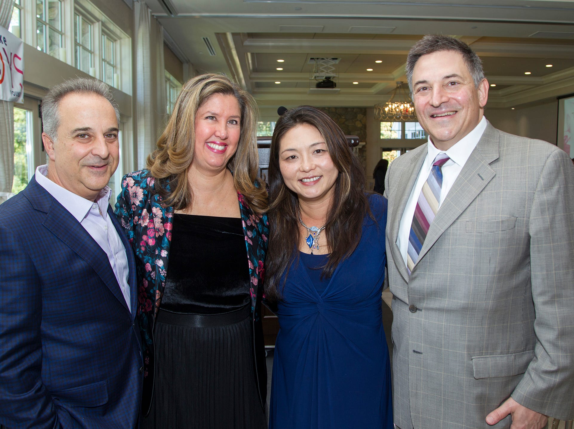 John and Paulette Laurenzi, Kara Song, Dr. Michael Gentile. Spring Lake Toys Foundation held its 3rd annual fundraising gala luncheon at Indian Trail Club in Franklin Lakes. The luncheon fundraiser raises funds for children with illnesses. 10/18/2018