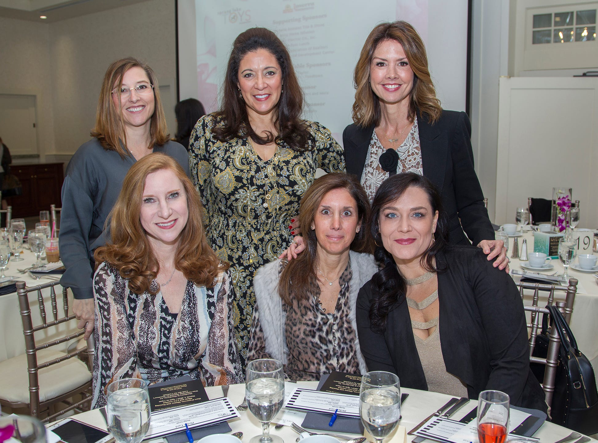 Rosa Riotto, Iliana Mc Ginnis, Marci Hopkin, Melanie Harold, Cynthia Alecci, Danyel Competiello. Spring Lake Toys Foundation held its 3rd annual fundraising gala luncheon at Indian Trail Club in Franklin Lakes. The luncheon fundraiser raises funds for children with illnesses. 10/18/2018