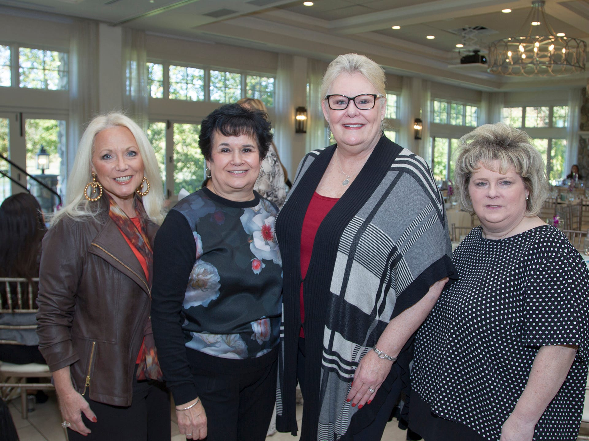 Cathy Teitel, Ivana D'Agastino, Lynne Bigica, Linda Cennerazzo. Spring Lake Toys Foundation held its 3rd annual fundraising gala luncheon at Indian Trail Club in Franklin Lakes. The luncheon fundraiser raises funds for children with illnesses. 10/18/2018