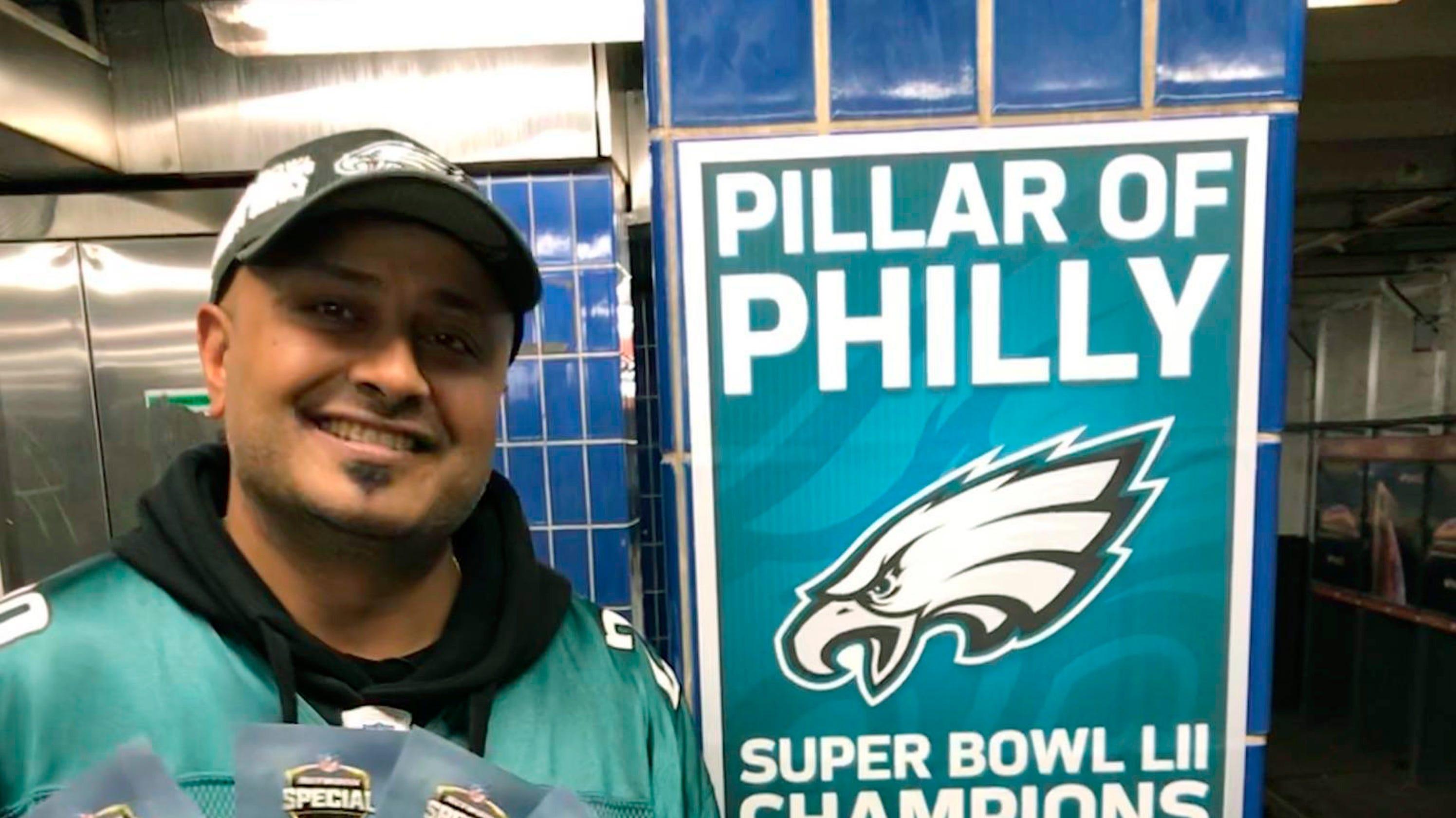 Philadelphia Eagles fan who ran into subway pole finds fame