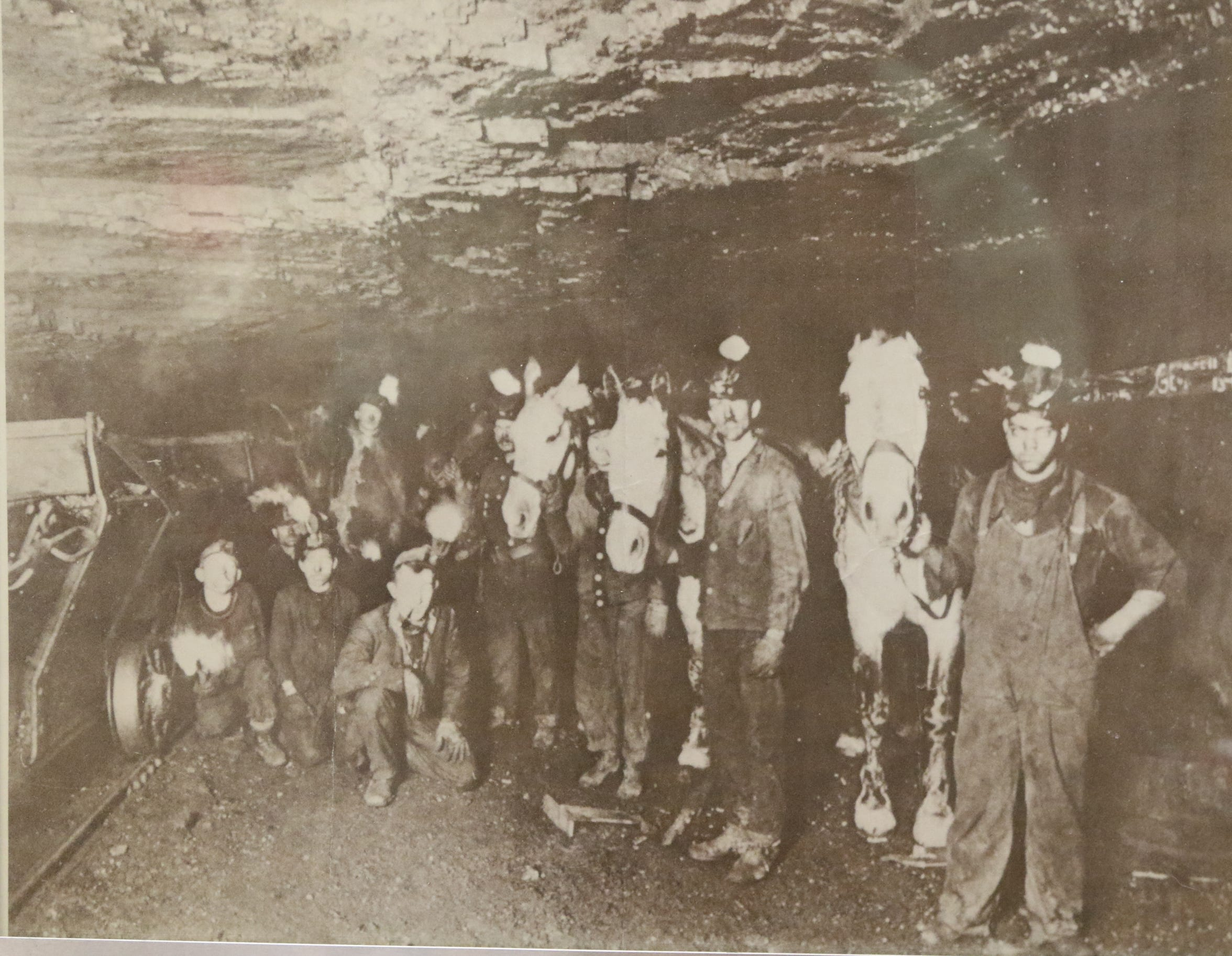 Photograph from inside one of the coal mines in Marianna.