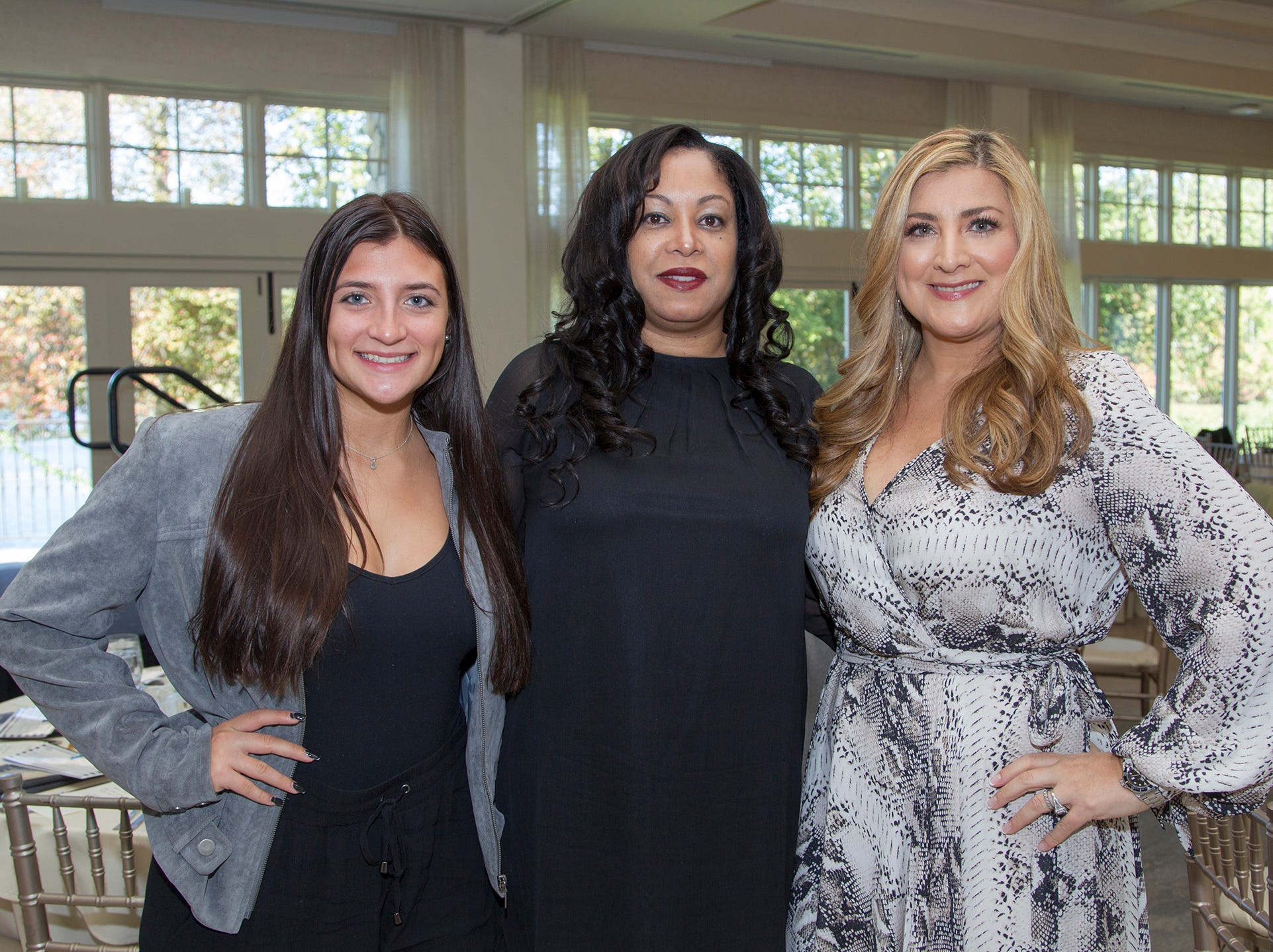 Heather Maniscalco, Marilyn Garcia, Antonella Romano. Spring Lake Toys Foundation held its 3rd annual fundraising gala luncheon at Indian Trail Club in Franklin Lakes. The luncheon fundraiser raises funds for children with illnesses. 10/18/2018