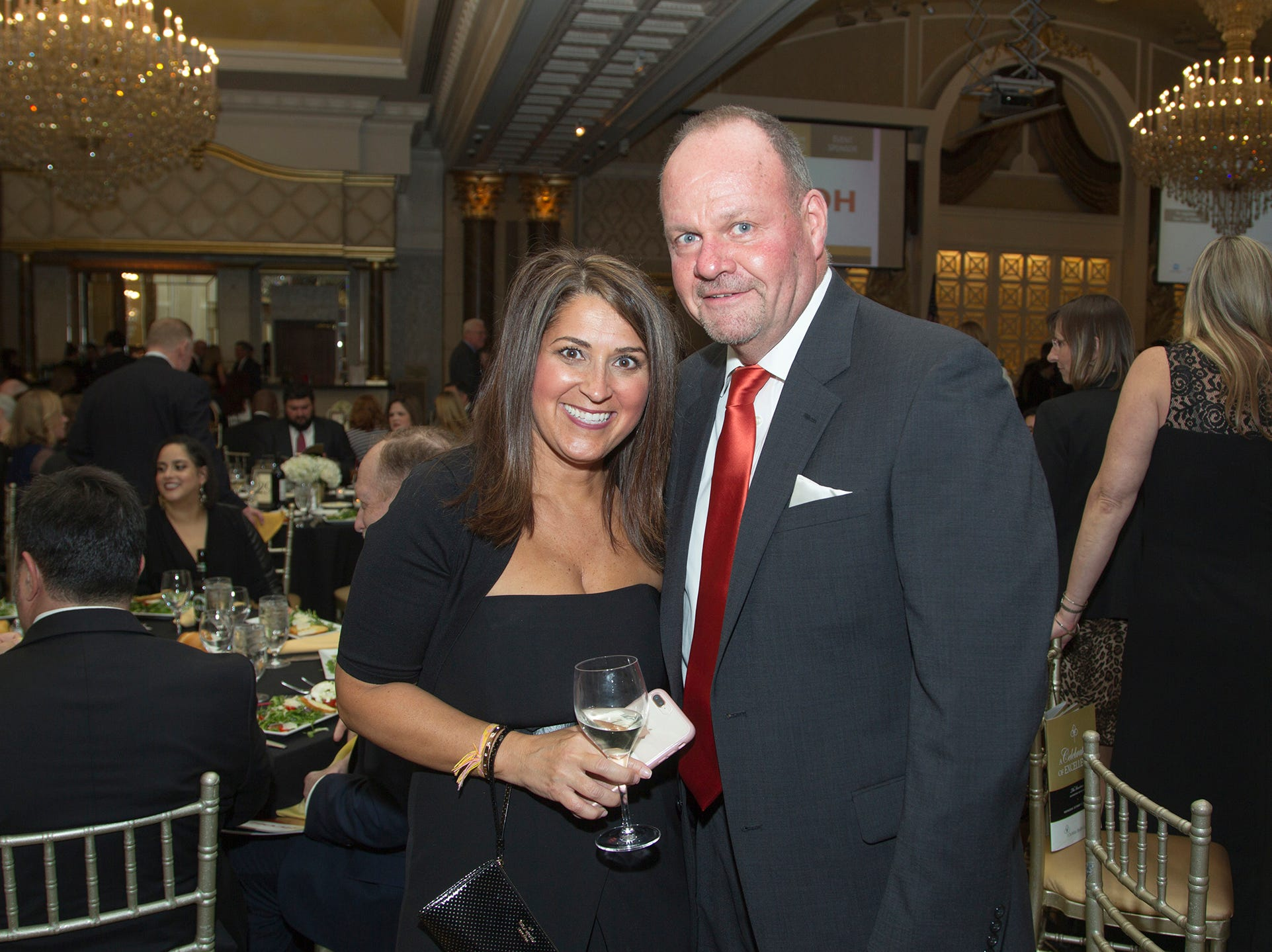 Patricia Mercurio, Peter Peterson. Christian Health Care Center held its ' A Celebration of Excellence' gala at the Venetian in Garfield.  10/17/2018