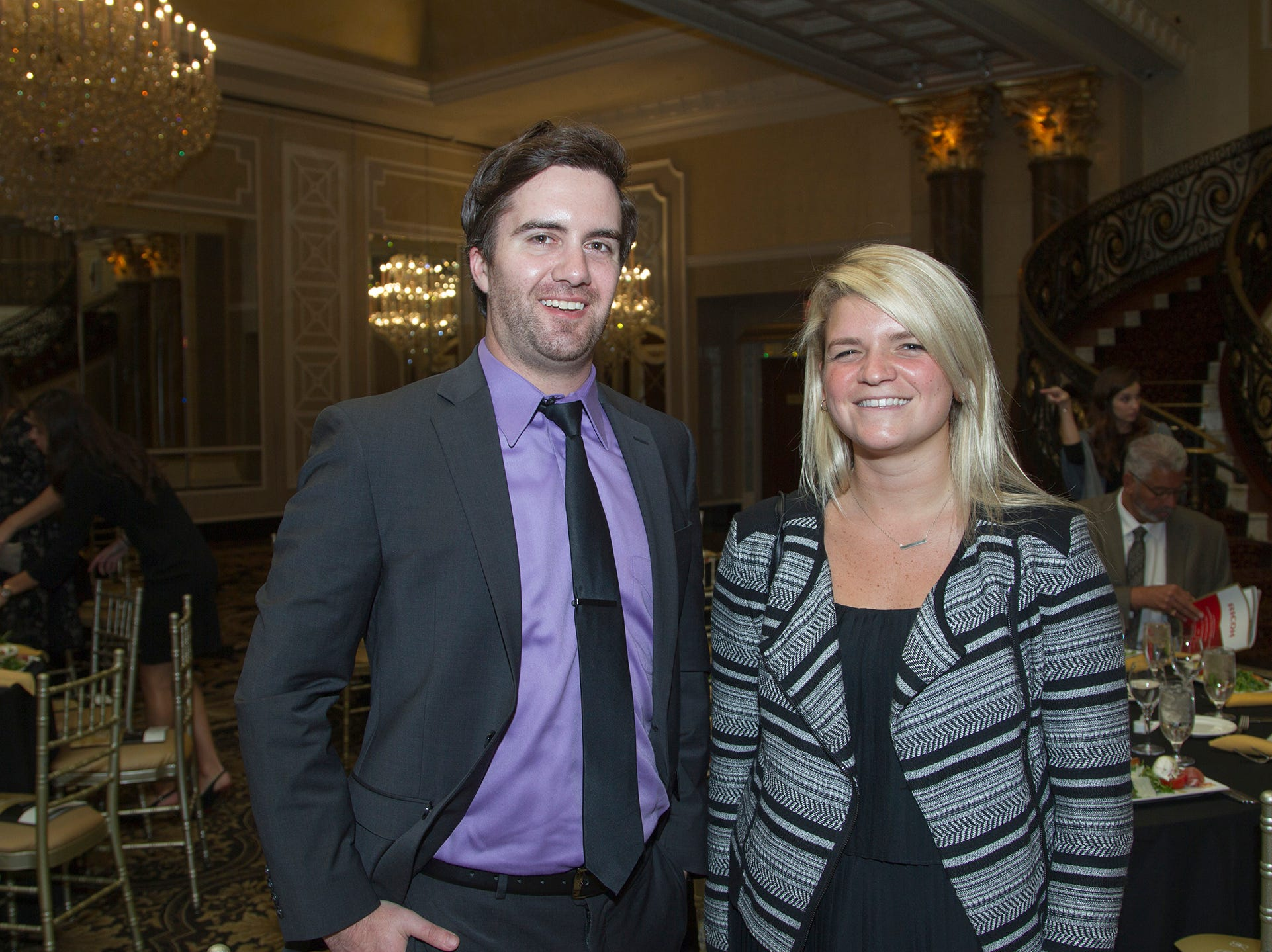 Matt Fink, Leah Routenian. Christian Health Care Center held its ' A Celebration of Excellence' gala at the Venetian in Garfield.  10/17/2018