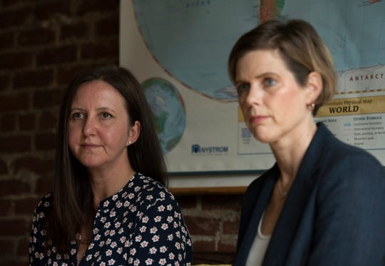 """Elizabeth L. Jeglic, left, and Cynthia Calkins are authors of the book """"Protecting Your Child from Sexual Abuse: What You Need to Know to Keep Your Kids Safe."""" Both women are professors at John Jay College of Criminal Justice. Thursday, October 11, 2018."""