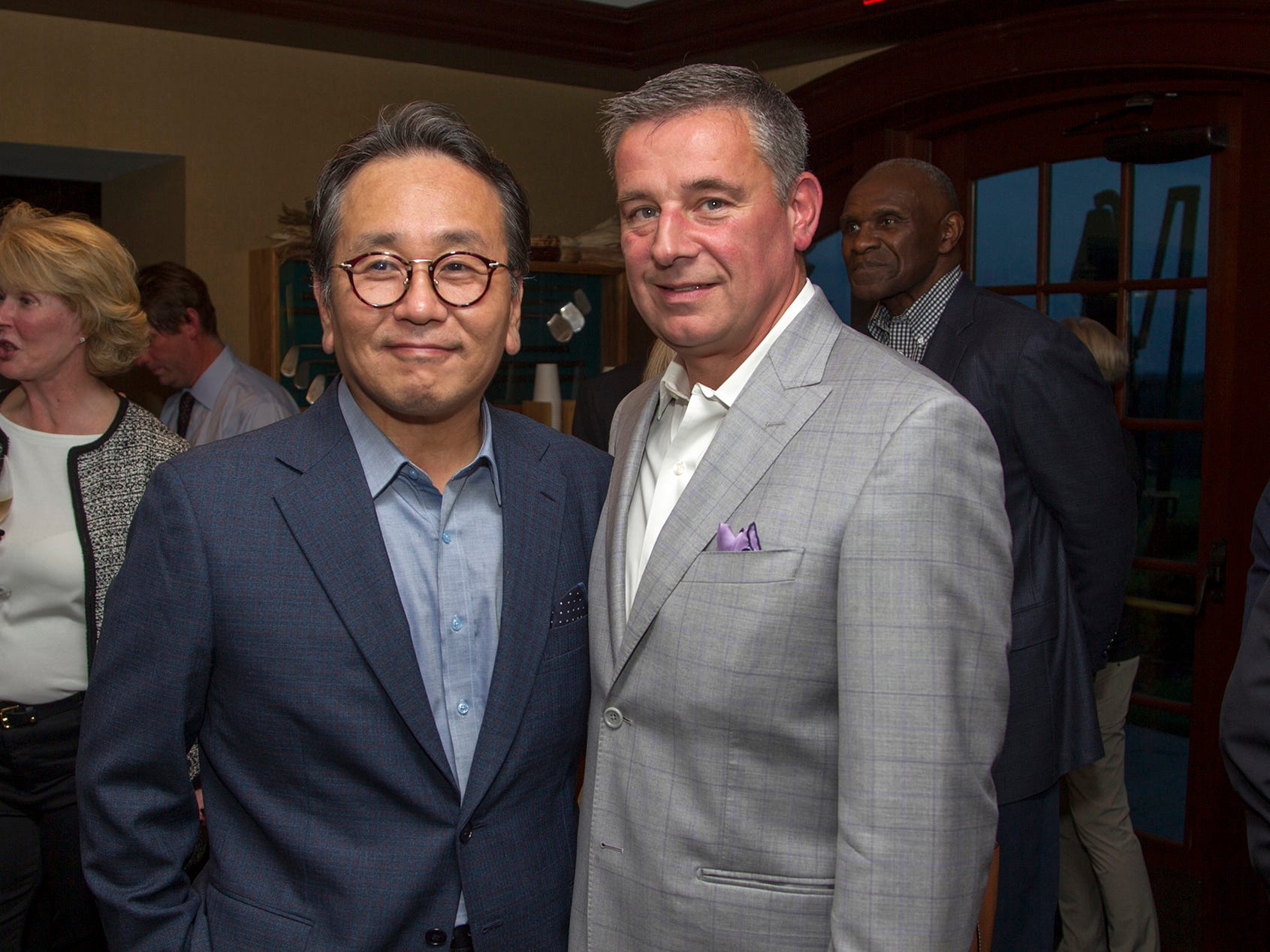 Mingi Choi, M.D.  and Dante Implicito, M.D. Seventh annual AIR Express Golf Outing honoring Dr. Dante Implicito, M.D. for his service to Hackensack University Medical Center. 10/16/2018