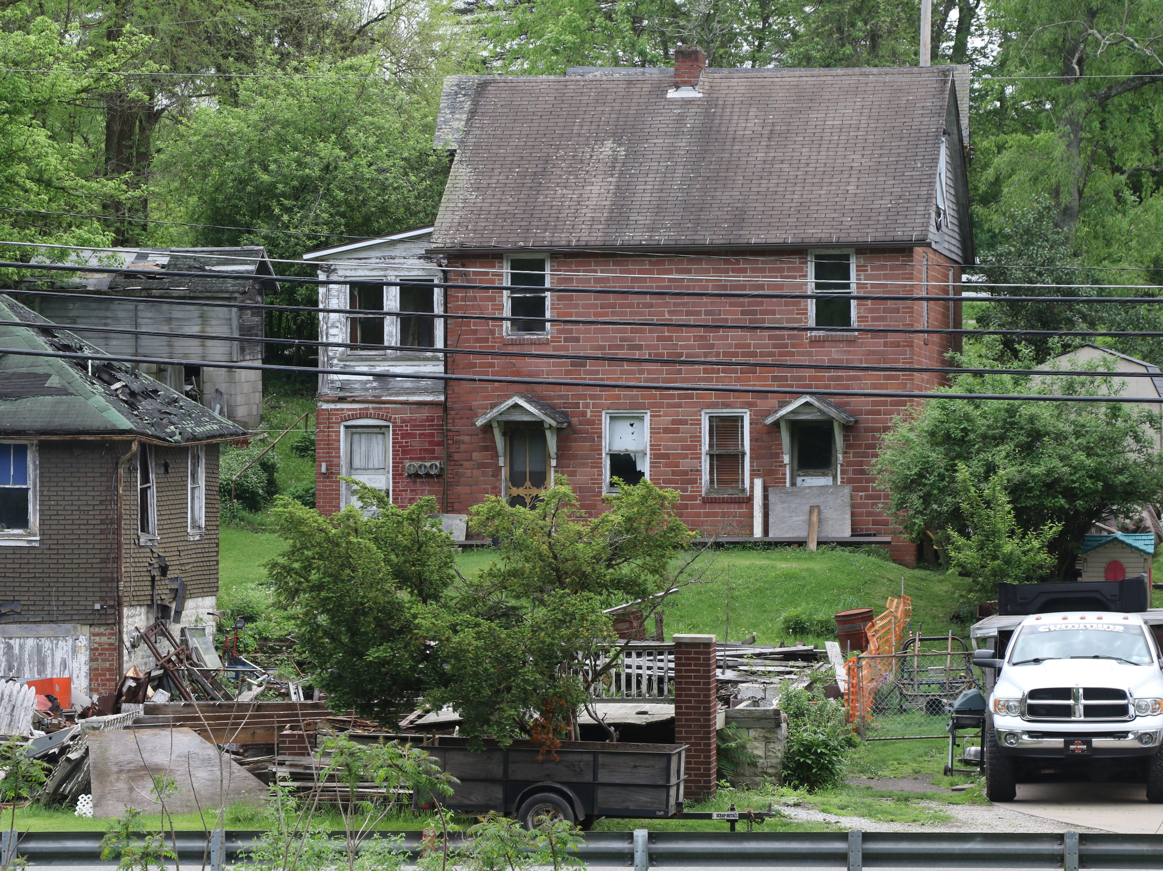 Homes in the once busy coal town of Marianna.