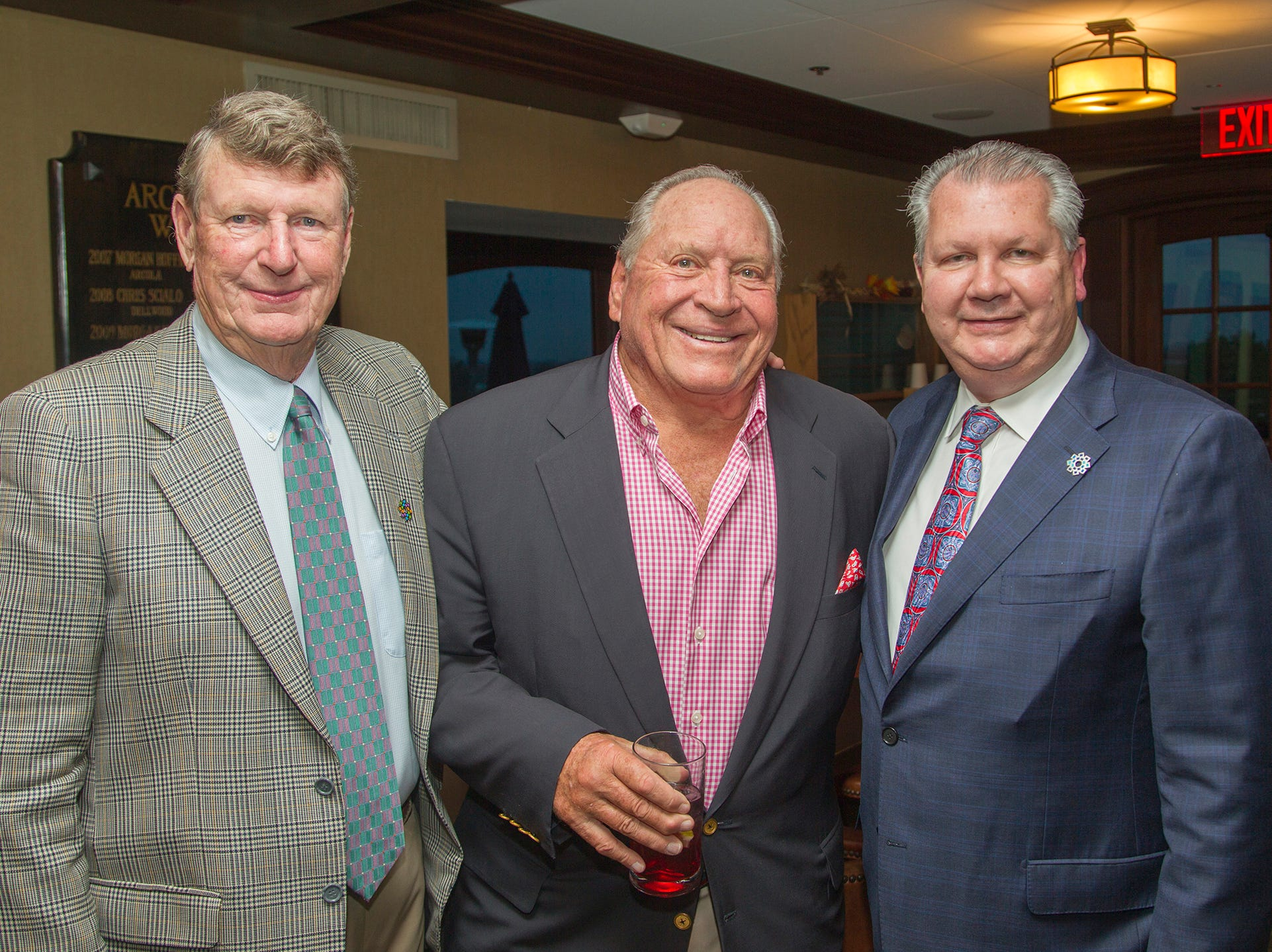 Bill Murray, Dr. Terry Hensel, Dr. Ihor Sawczuk. Seventh annual AIR Express Golf Outing honoring Dr. Dante Implicito, M.D. for his service to Hackensack University Medical Center. 10/16/2018