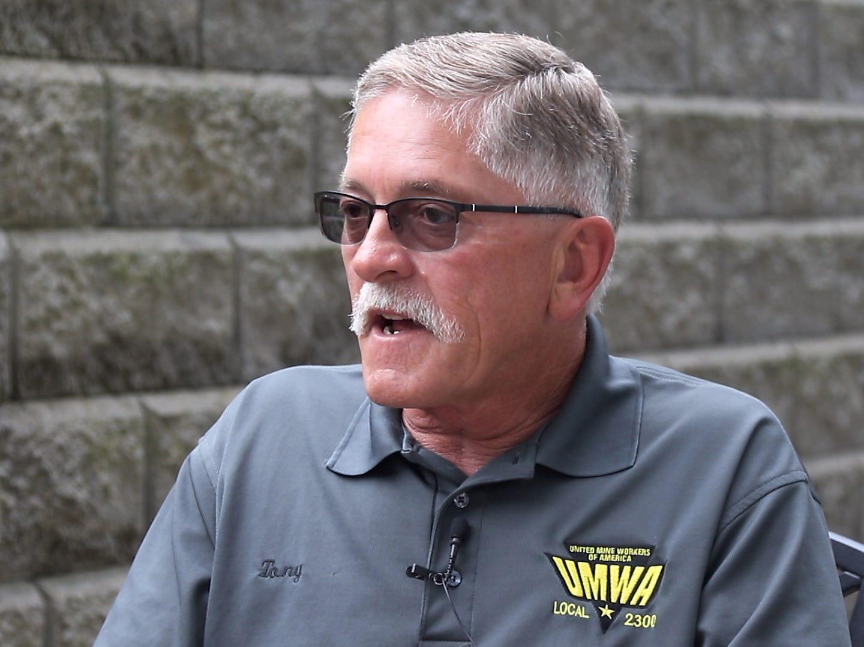 Coal miner Tony Brnusak.